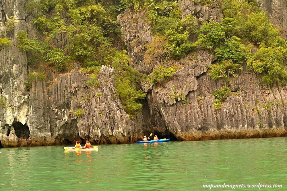 kayaking in caves