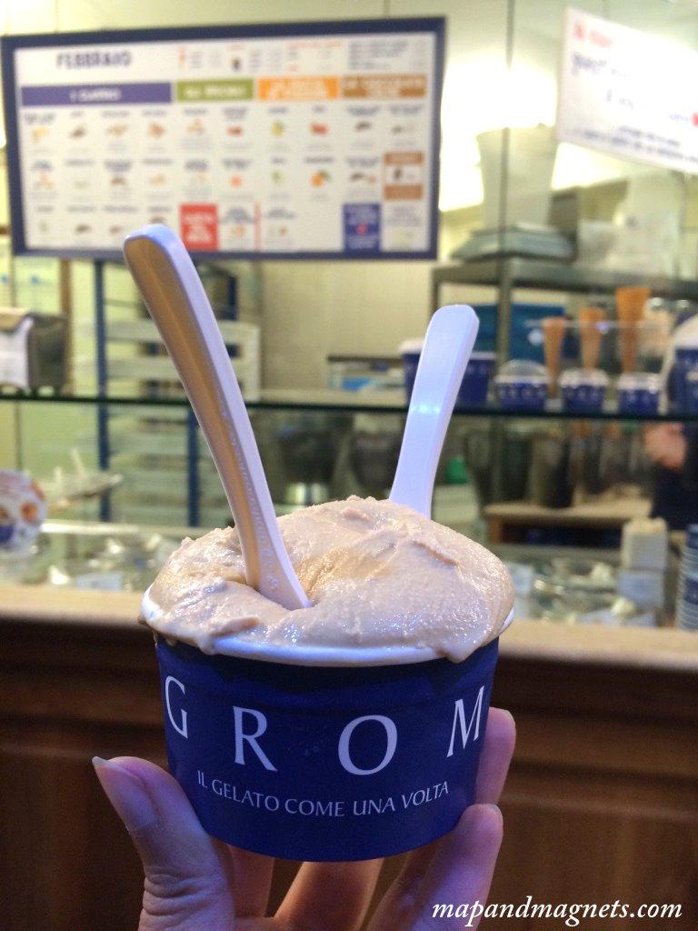 Grom salted caramel gelato
