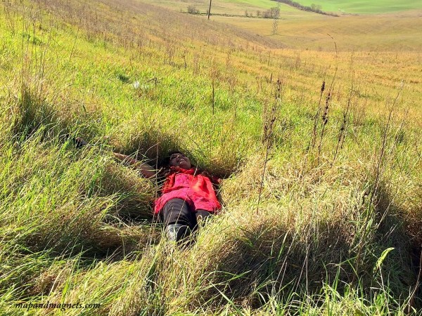 Lazing in Tuscan grass
