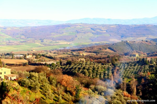 Tuscany view from the top