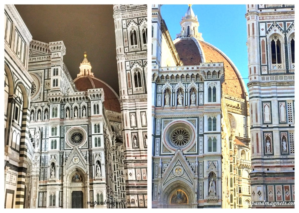 Florence Duomo by day and night