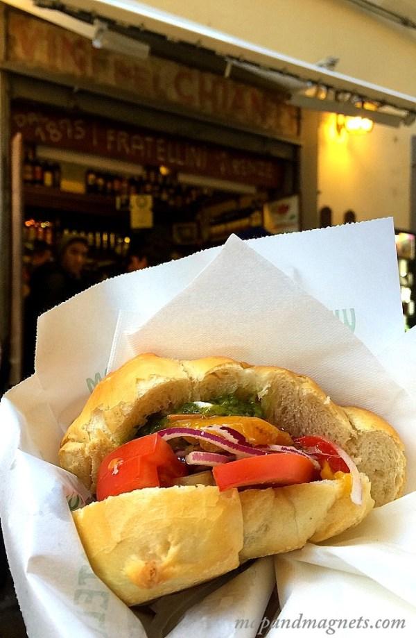 Vegetarian Panini in Florence