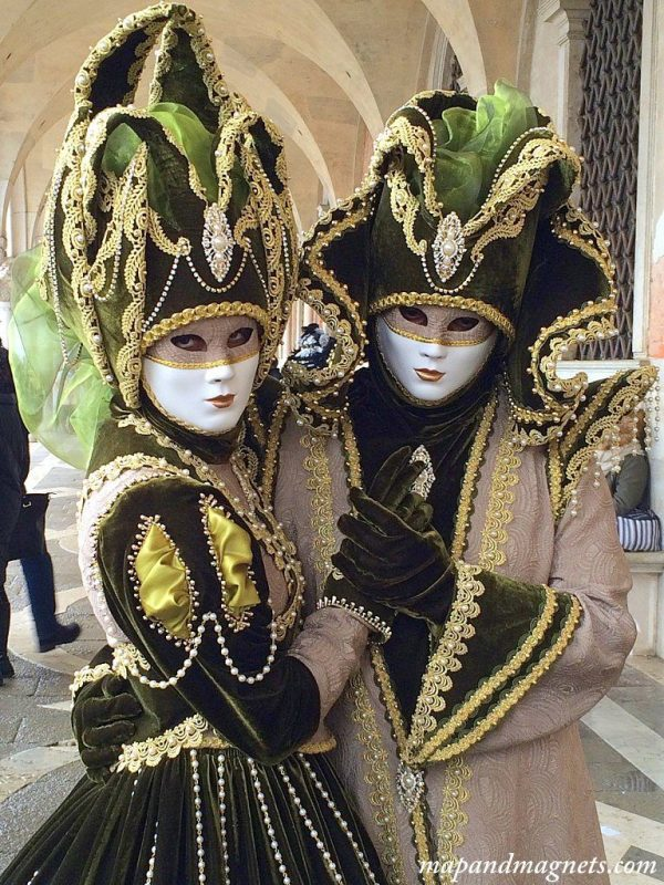 Venice carnival couple costume