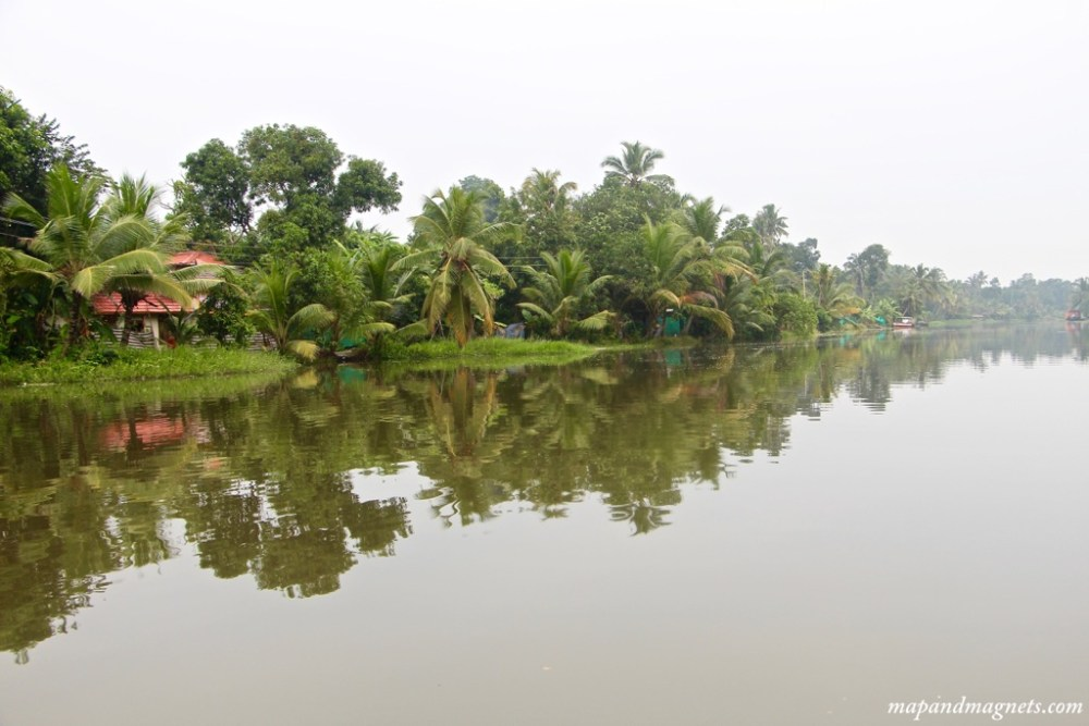 Kerala backwaters reflection