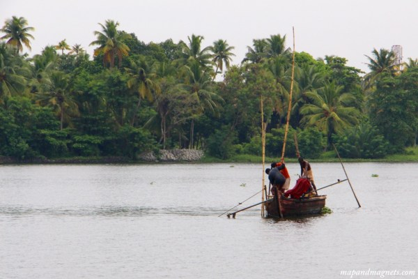 Kerala backwaters working boat
