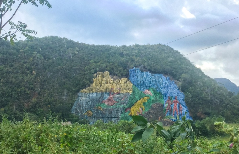 Murals in Vinales in Cuba