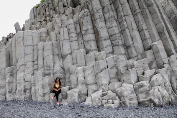 Reynisfjara basalt column beach in Iceland