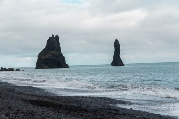 Reyjnisfjara black sand beach in Iceland