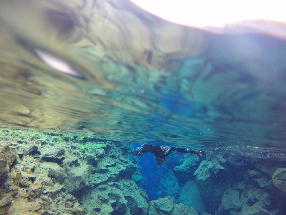 Snorkeling in Iceland at Silfra fissure