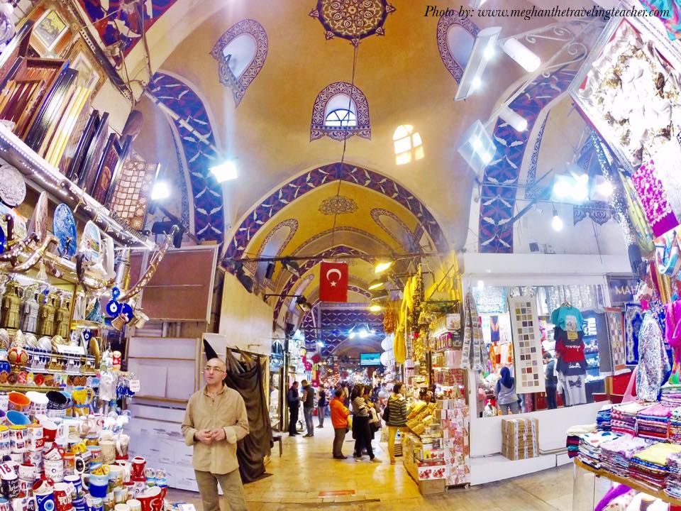 The Grand Bazaar in Istanbul is an ancient market selling all kinds of objects