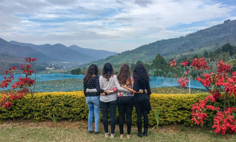 Looking into the mountains in Nilgiris