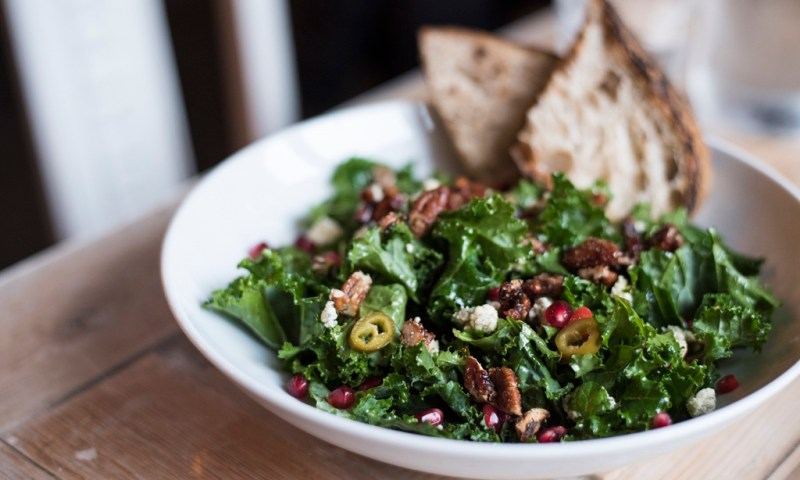 Vegetarian salad in Iceland