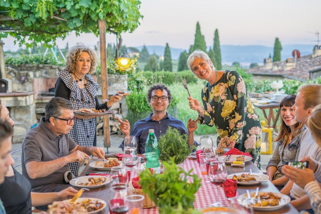 Dinner party with Italian locals