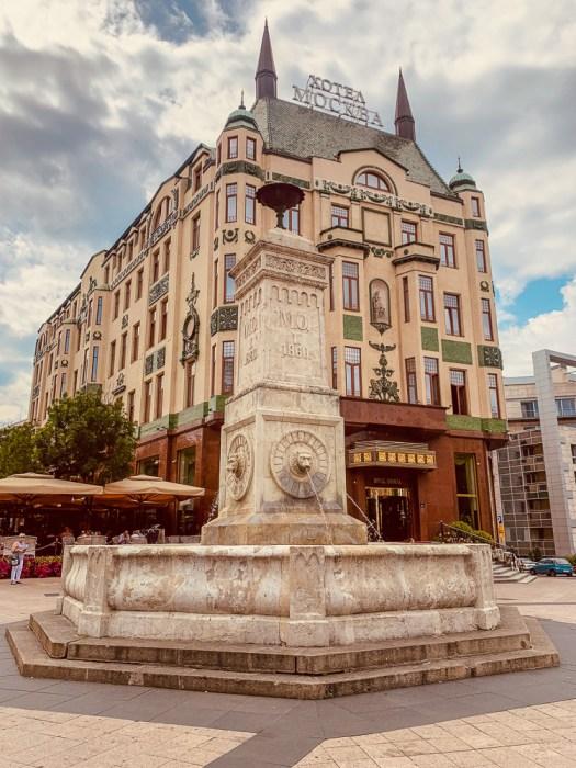 Architecture of Hotel Moskva in Belgrade