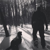 Snowshoeing in Robinson Woods
