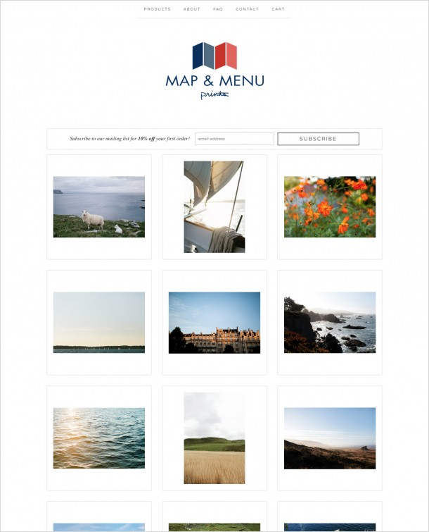 Map & Menu Prints