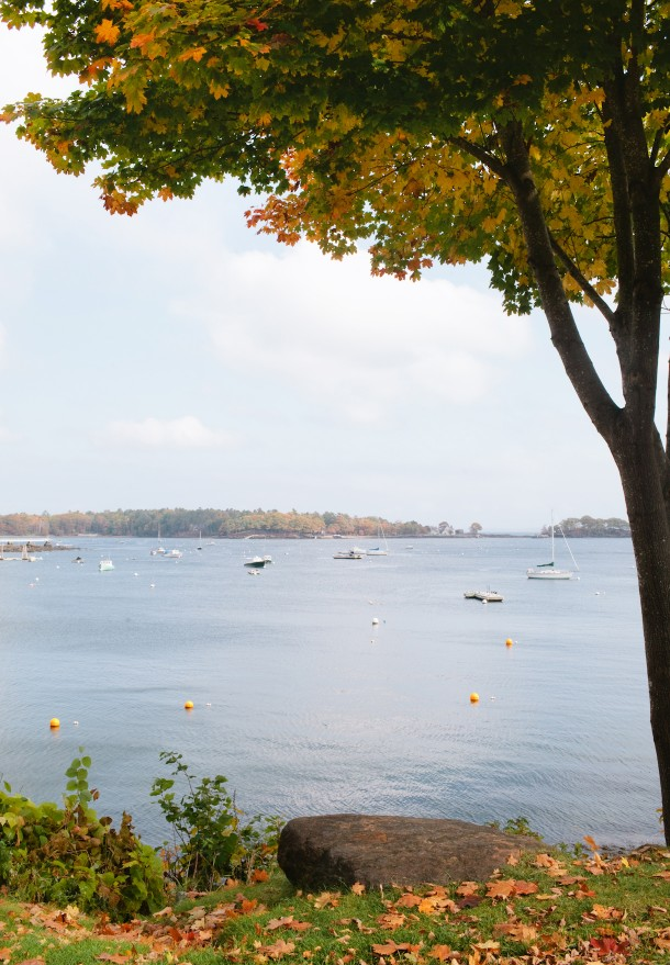 Camden Maine in the fall