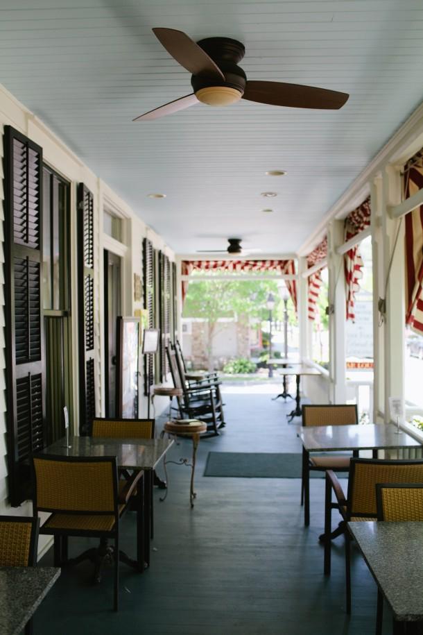 Hotel Fauchere Porch