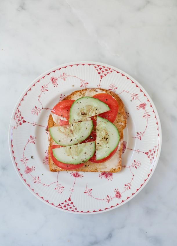 Tomato Cucumber Toast