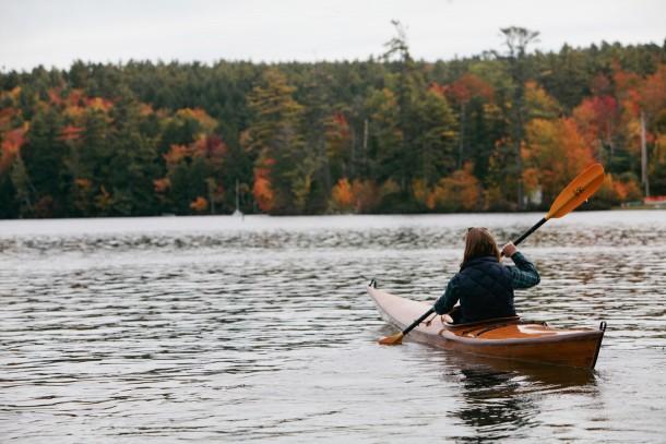 Kayaking in Little Lake Sunapee