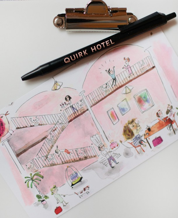 Quirk Hotel Postcard