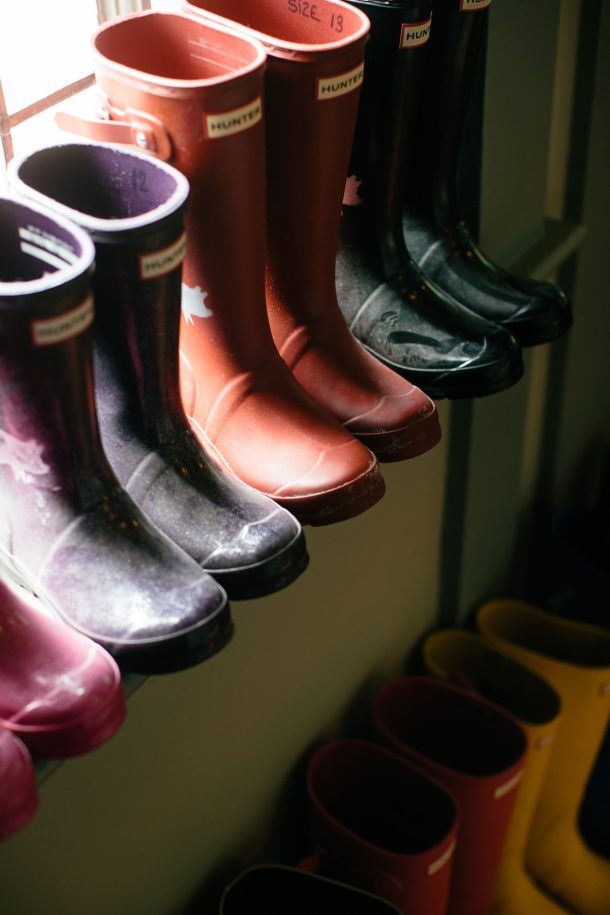 Hunter Boots at The Pig on the Beach by Map & Menu
