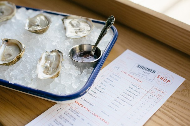 Island Creek Oysters at The Shop in Portland, Maine