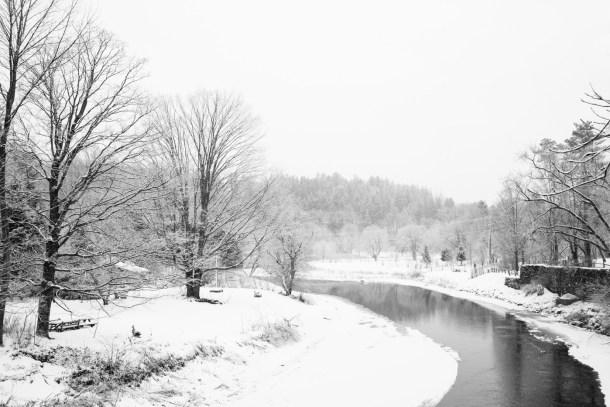 Woodstock VT Snow