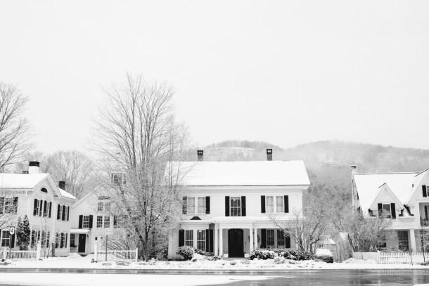 Woodstock Vermont Snow