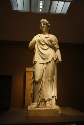 Roman marble Lady, Juno. Largest Classical sculpture in any museum in the United States--13 feet tall weighing 13,000 pounds.