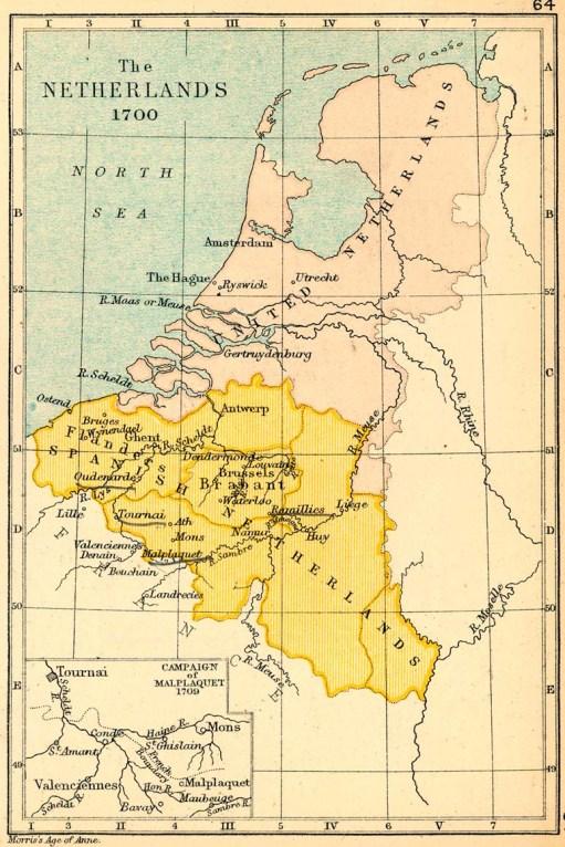 Resultado de imagen de mapa paises bajos 1700