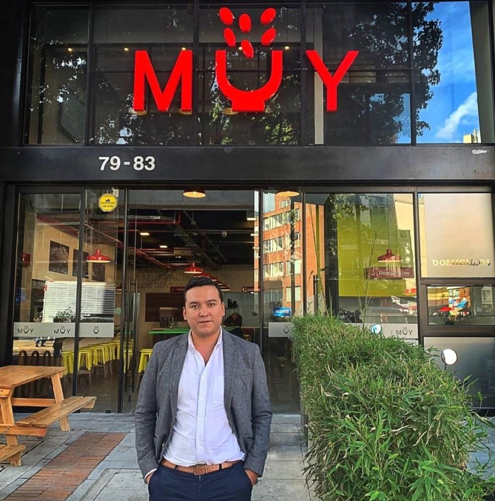 José Calderón (CEO de MUY Tech). Restaurante MUY