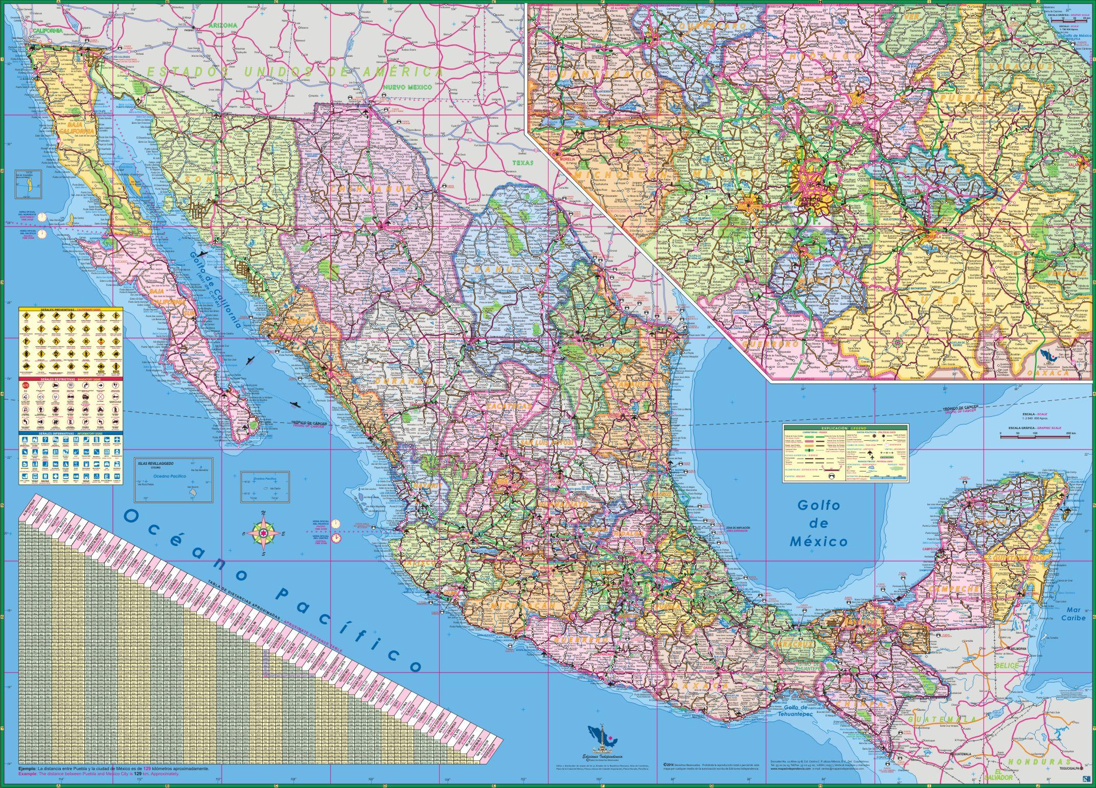 Repblica Mexicana Mapa De Los Estados Mexicanos Mxico