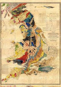 MAPCO   Map And Plan Collection Online Walker s Geological Map Of England  Wales  And Part Of Scotland c1836