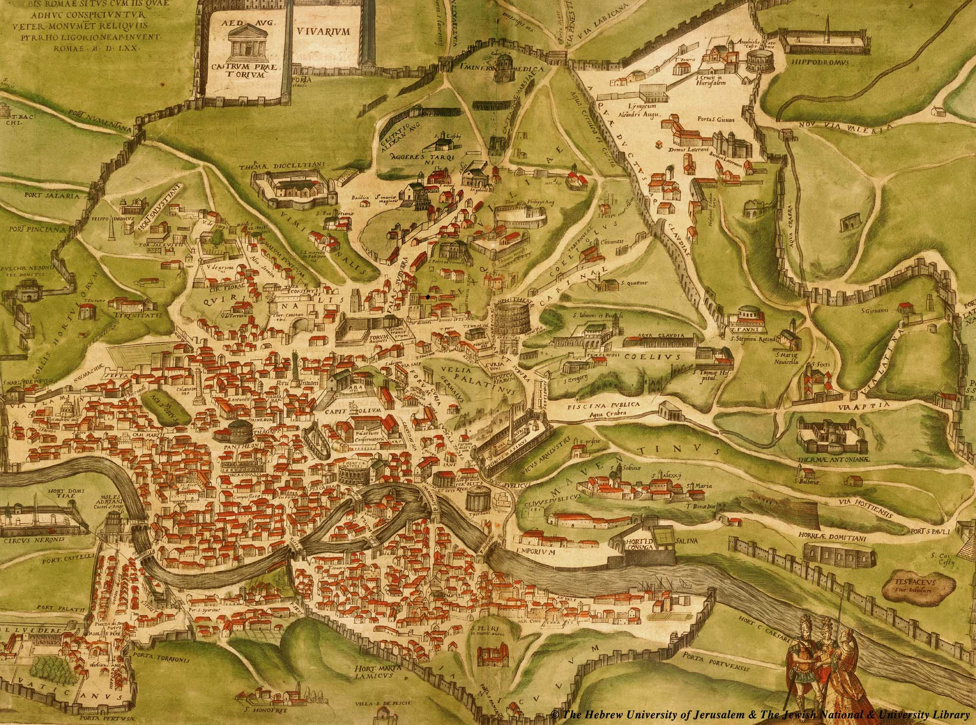 Historical Ancient Rome Map