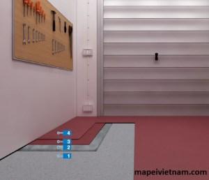 Sàn epoxy cho nhà để xe dưới mặt đất