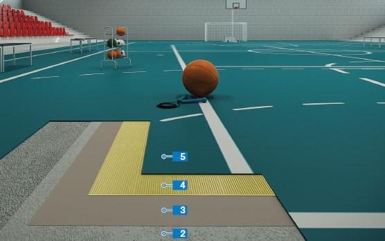 Thi công sàn nhựa PVC cho nhà thi đấu