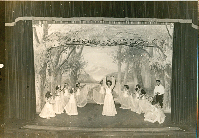 my grandmother with her dancing students