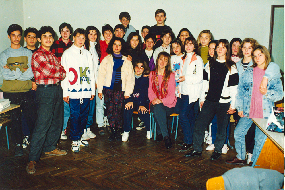 one of my classes in Bulgaria--1994