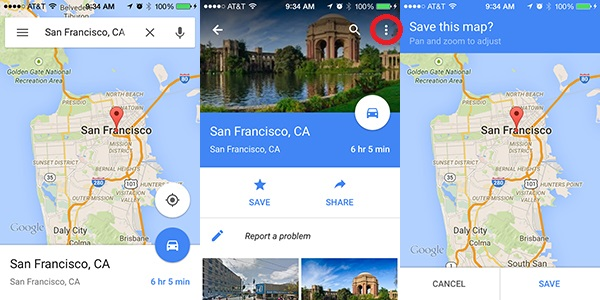 How To Enable Offline Maps in the Google Maps App Map Happy