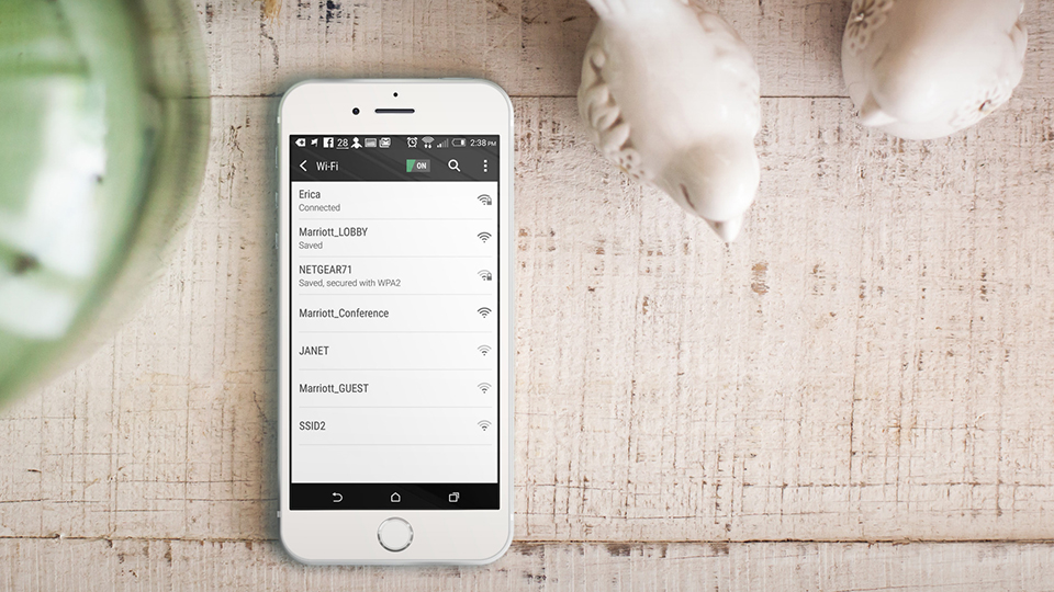 All set up. (Placeit)