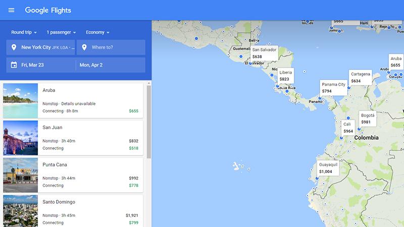 Feeling Stuck? Google Flights Lists the Cheapest ... on google flight search tool, google earth plane crash, google earth world map,