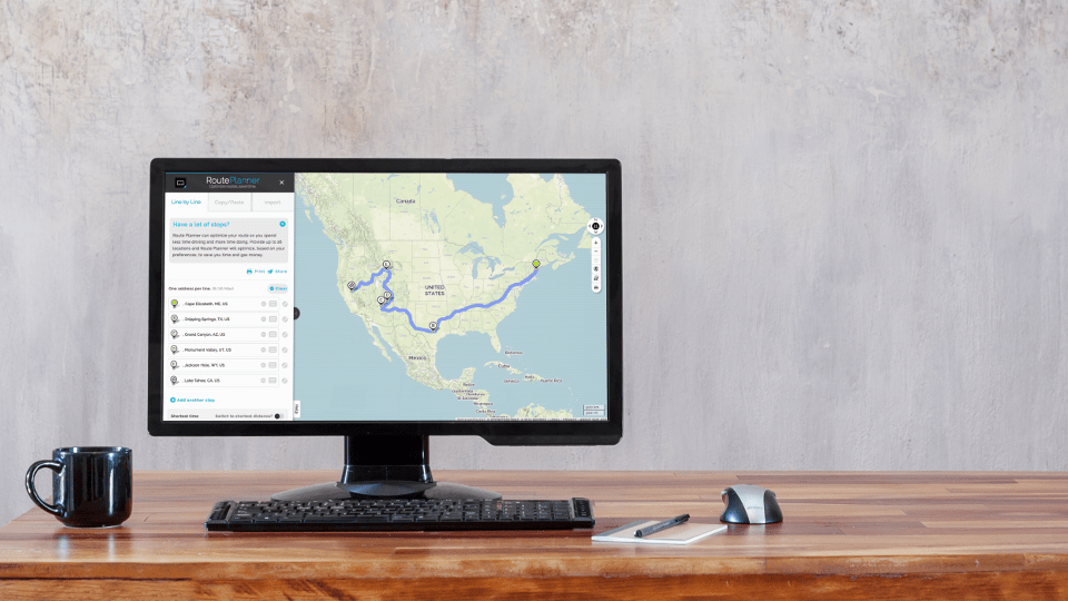 The MapQuest RoutePlanner Finds the Most Efficient Driving Route via @maphappy