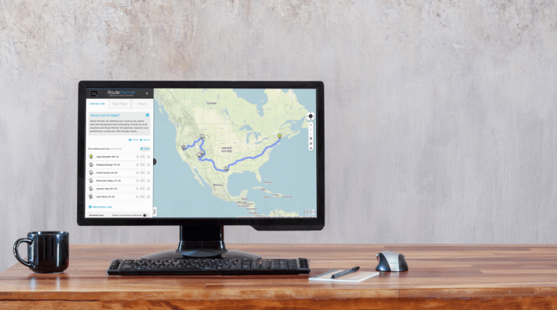 The Mapquest Routeplanner Finds The Most Efficient Driving Route