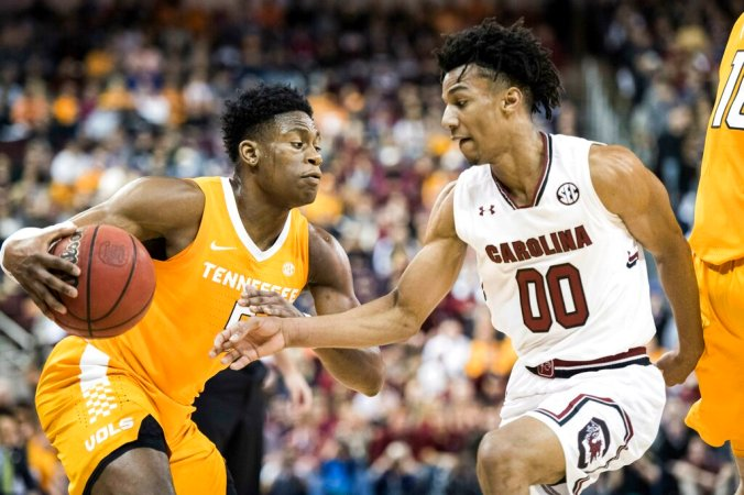 Image result for South Carolina Gamecocks vs Tennessee Volunteers college basketball 2019