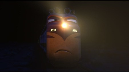 """A113"" moment in CARS. ©Disney/Pixar. All Rights Reserved."