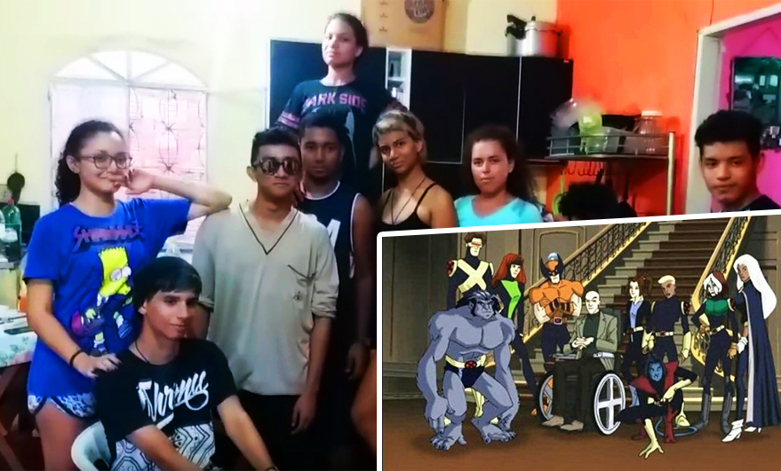 Adolescentes do AM recriam abertura de X-Men Evolution e vídeo viraliza