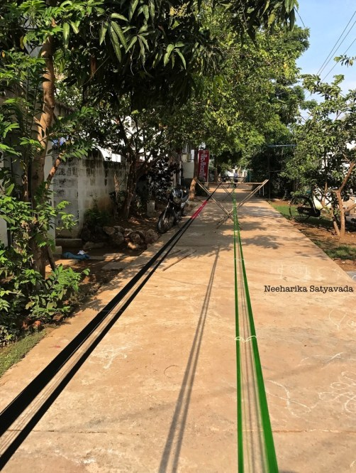uppada village sarees_threads hung out to count