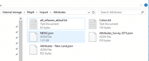 Import Attribute Set folder location