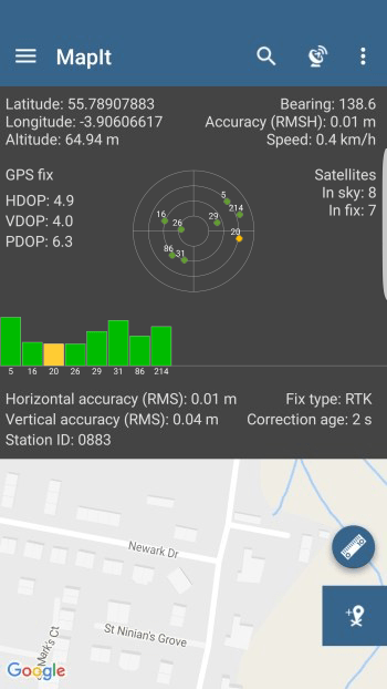 GPS Info Screen